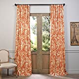 Half Price Drapes PRCT-D09A-84 Printed Cotton Curtain, 50″ X 84″, Rust Review