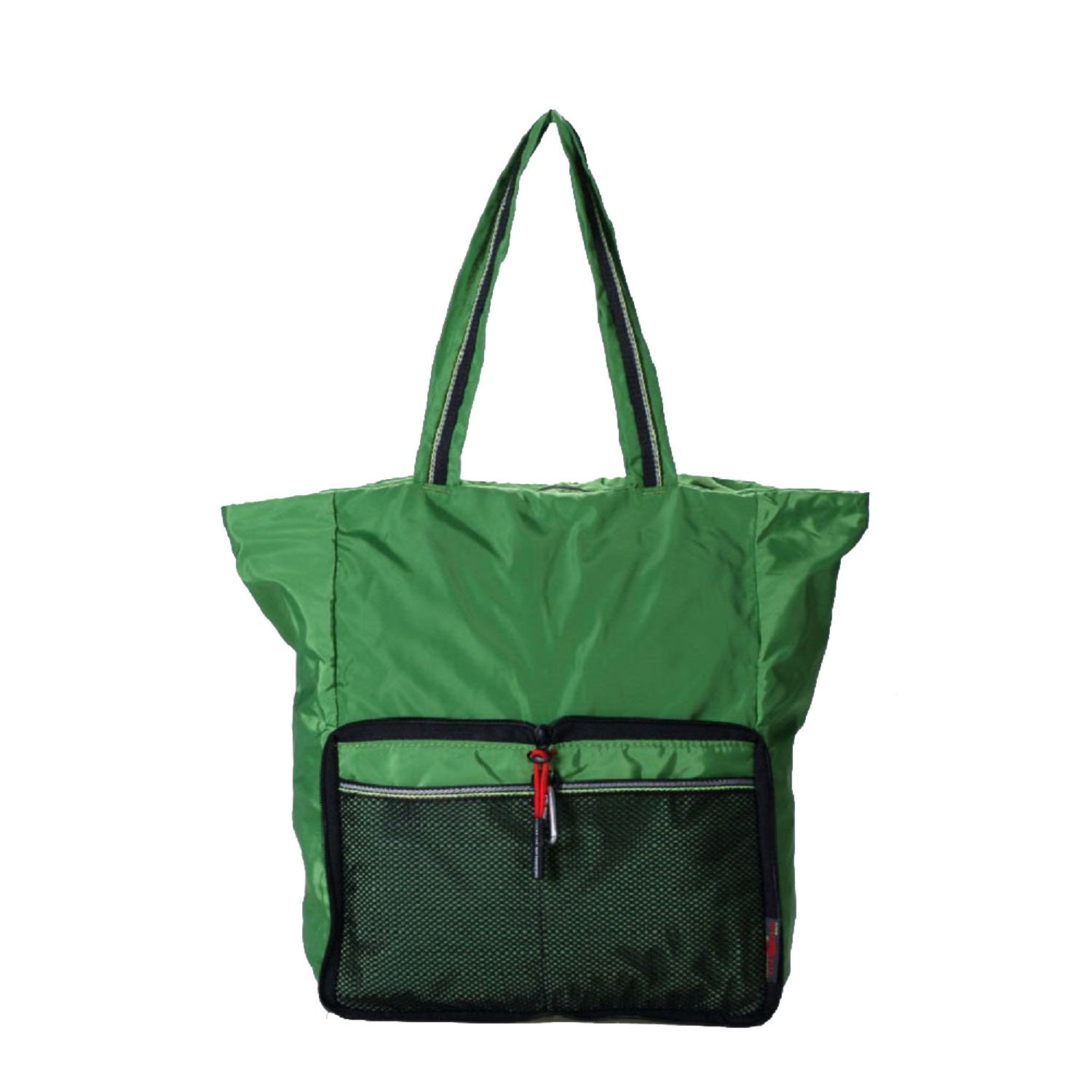 Daygos Lightweight Foldable Waterproof Nylon Shoulder Bag for Shopping Sports Gym Travel (Green)