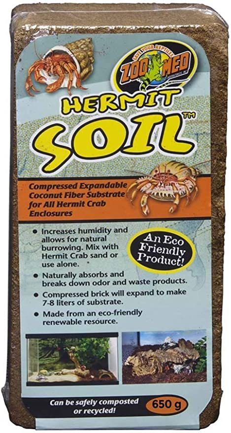 Zoo Med Hermit Soil Coconut Fiber Brick 600 G Free Shipping