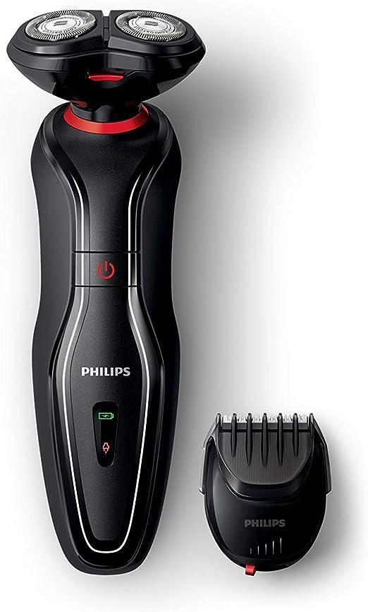Philips Click & Style S720/17 - Afeitadora (Máquina de afeitar de rotación, 2 año(s), Negro, Rojo, Batería, Níquel-metal hidruro (NiMH), 1 h): Amazon.es: Hogar