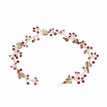 Weddwith Kopfschmuck Bridal Kopfbedeckungen Rote Haare Ornamente