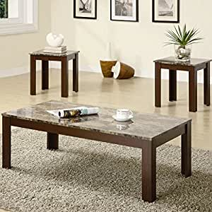 Coaster Fine Furniture 700395 3-Piece Coffee Table and End Table Set