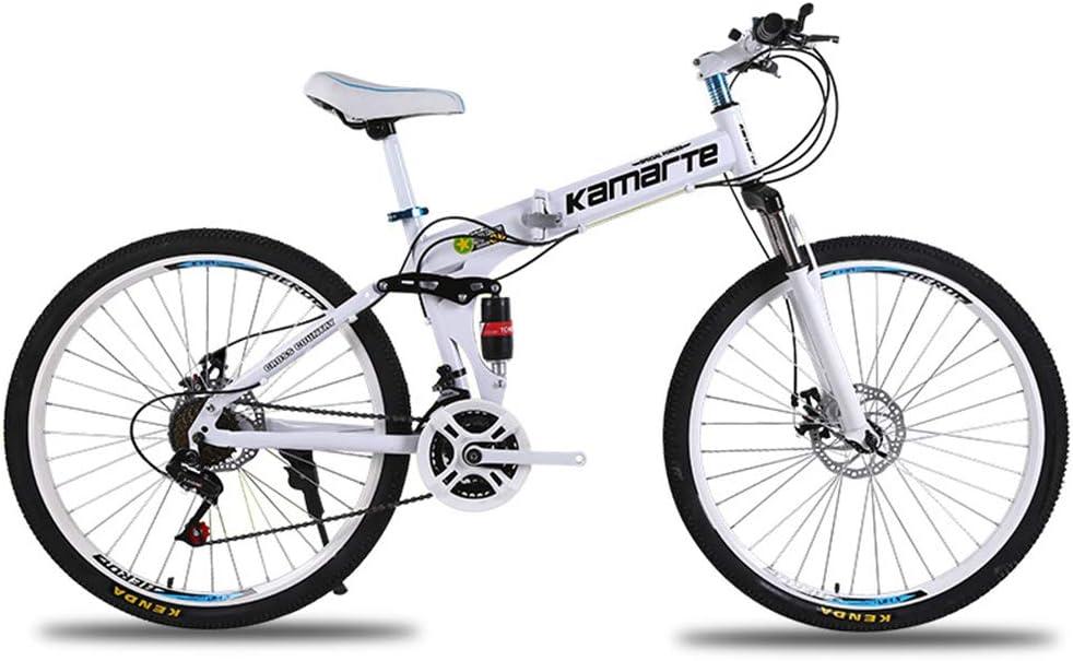 OD-B Bicicleta de montaña Plegable 6 Cuchillo/Rueda de radios Bicicleta de montaña 21/24/27 Velocidad Doble Disco Frenos Bicicleta-26 Pulgadas: Amazon.es: Deportes y aire libre