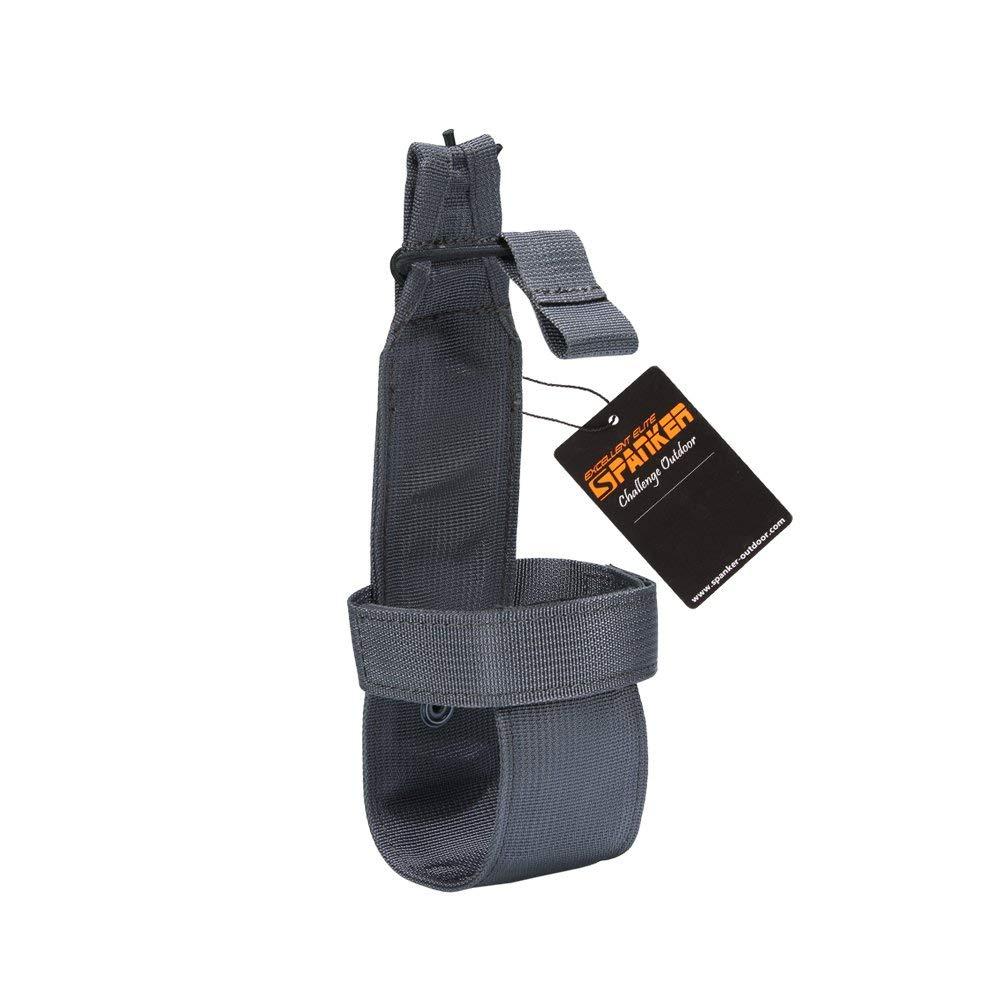 EXCELLENT ELITE SPANKER Outdoor Tactics Portable Belt Bottle Holder Molle Bottle Carrier for Hunting Walking Running Cycling Hiking Can Adjust The Size(Grey)