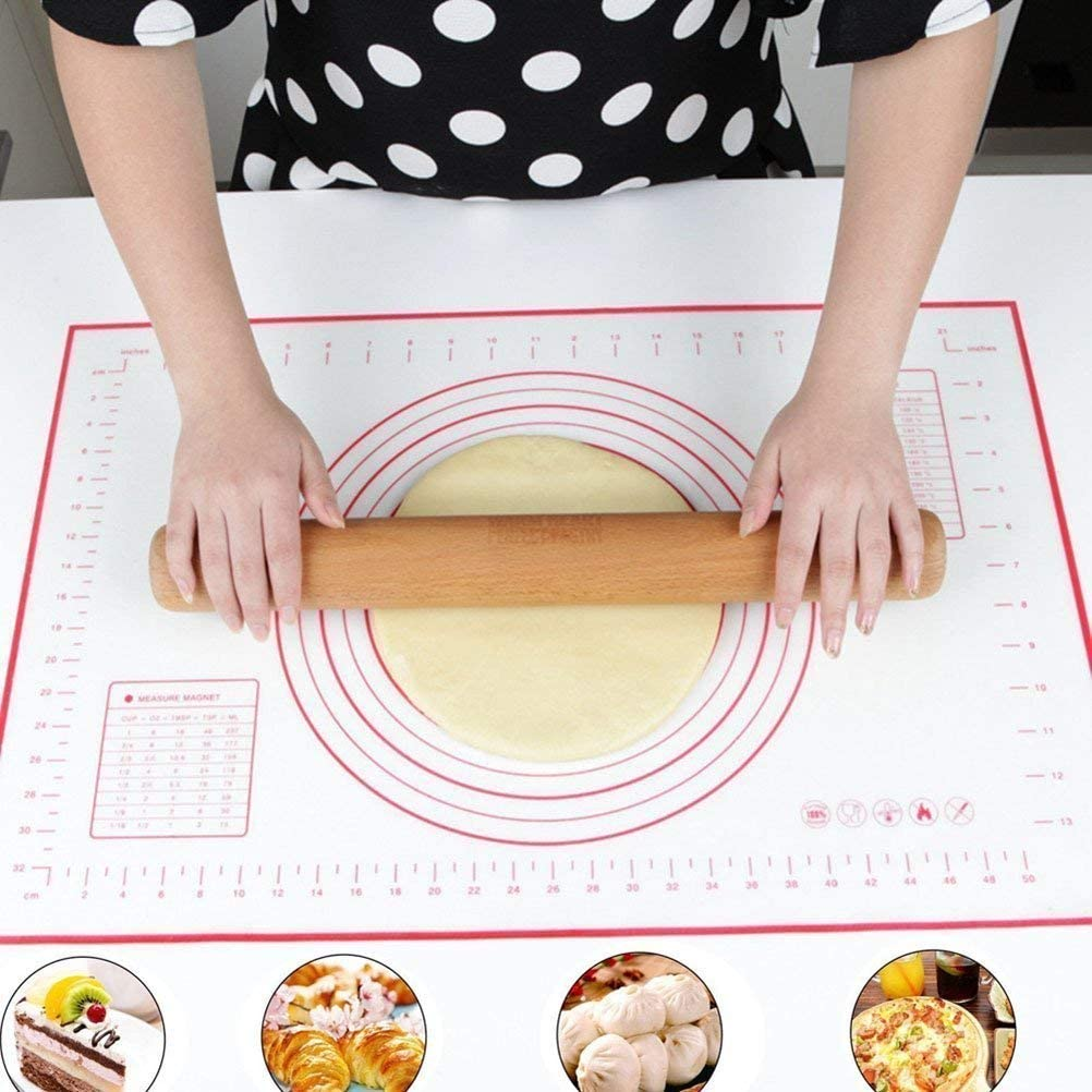 Silicone Baking Mat with Measurement Not Slip Pastry Rolling,Liner Heat Resistance Table Placemat Pad Pastry Board, Reusable BPA,Non Toxic Mat for Housewife 24 x 16