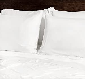 SHEEX Ecosheex Bamboo Origin Pillowcase, Set of 2, Ultra-Soft, Absorbent Fibers, White, King
