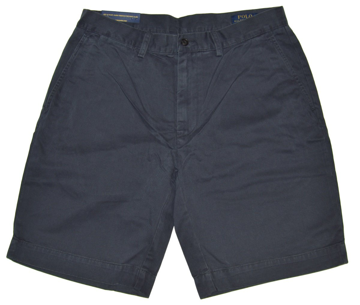 Polo Ralph Lauren Mens Chino Flat Front Shorts (Navy, 40)