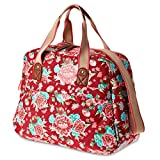 Basil Bloom Bicycle Carry All Bag 14 L - 41 x 16 x 29 Cm, Red