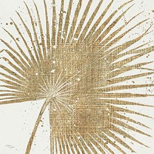 Posterazzi Gold Leaves II Poster Print by Wellington Studio, (12 x ()