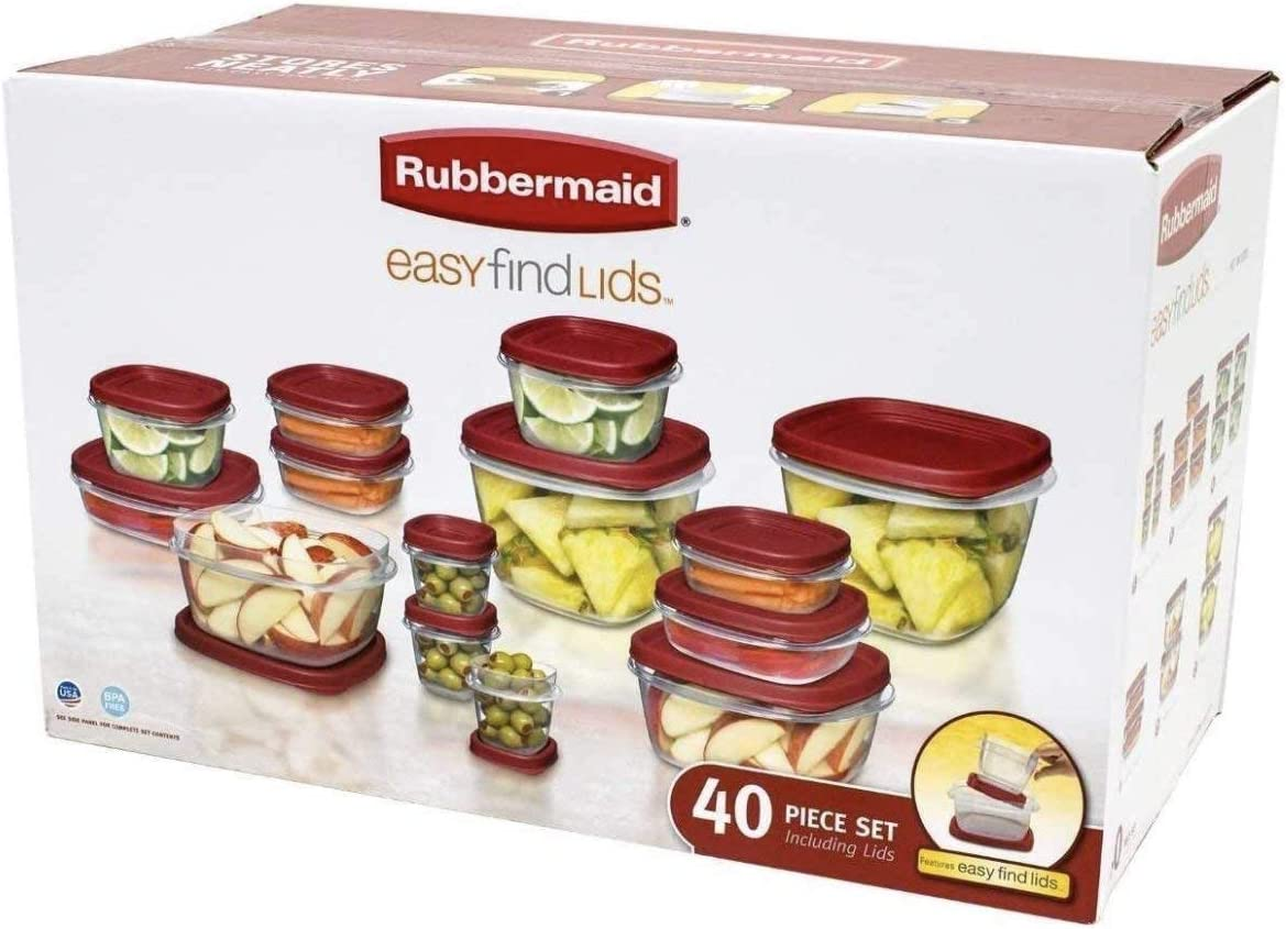 Rubbermaid Storage container set, Clear