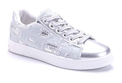51efbfc1081d30 Schuhtempel24 Damen Schuhe Low Sneaker flach Pailetten  Amazon.de ...
