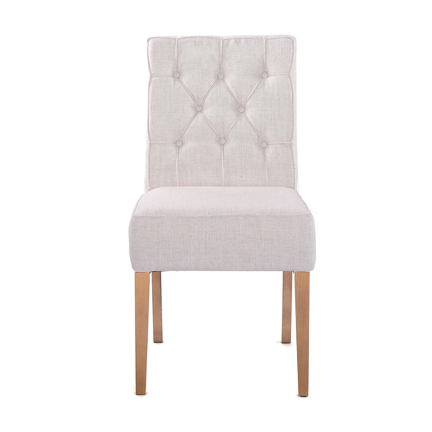 Design Kitchen Chair Step Up Upholstered Fabric Cover Natural