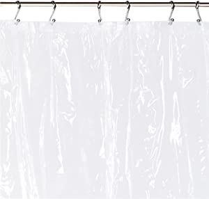 Carnation Home Fashions 72 by 84-Inch Waterproof Vinyl Shower Curtain Liner, X-Large, Super Clear