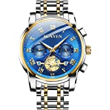Causual Mens Watches Waterproof Quartz - Business Wristwatch Stainless Steel Sapphire Face Multi-Function Displays…