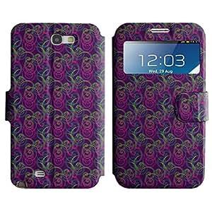 LEOCASE remolinos lindos Funda Carcasa Cuero Tapa Case Para Samsung Galaxy Note 2 N7100 No.1005545