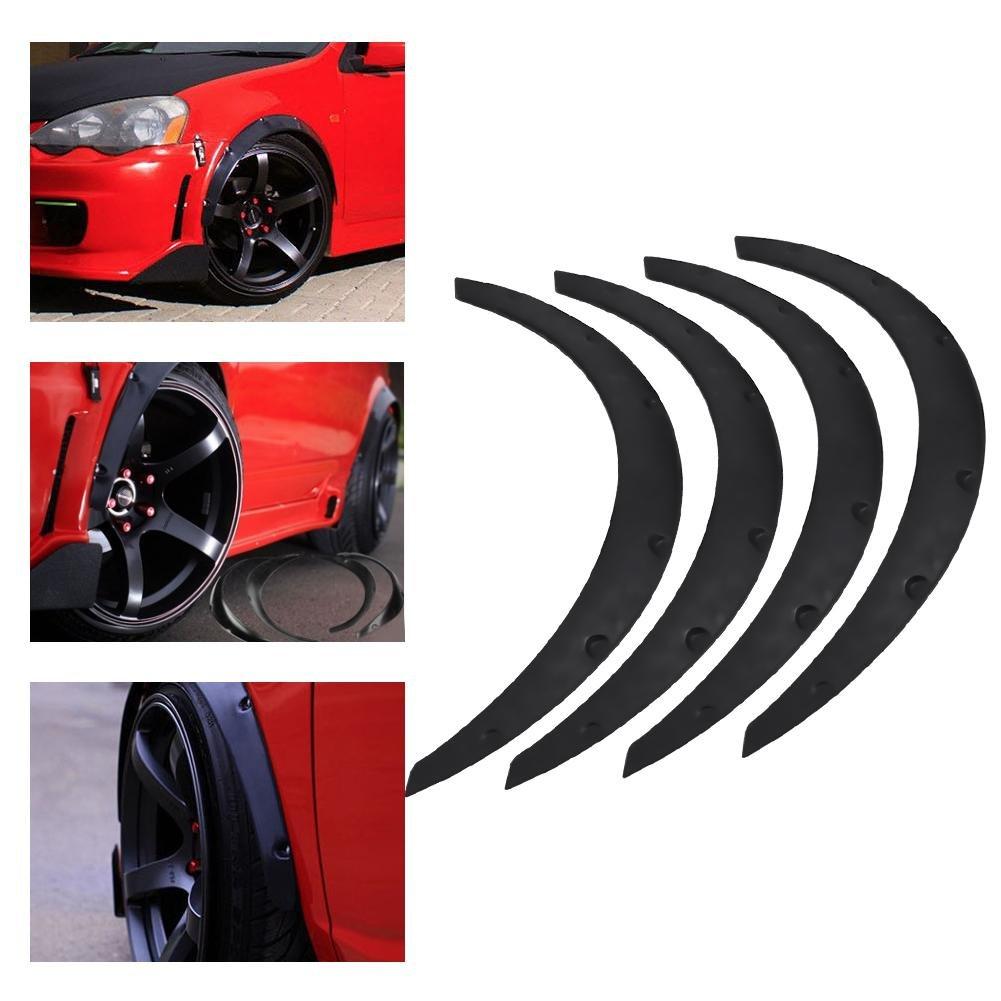 Auto Fender flares, 4 unidades universal Auto SUV guardabarros Fender flares hojas Cilindro de cejas Protector auto modificación accesorios: Amazon.es: ...