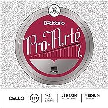 D'Addario Pro-Arte Cello String Set, 1/2 Scale, Medium Tension