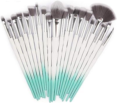 Blush Kit de 20PCS Haute Qualit/é Sourcil Poils Synth/étiques Vegan Beaut/é Maquillage Brosse pour Fond de Teint Correcteurs Les Yeux Posional Pinceaux de Maquillage Professionnels