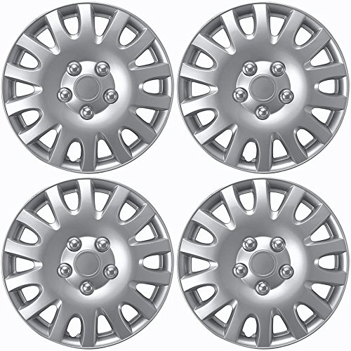 OxGord Hub-Caps for Select Toyota Camry (Pack of 4) 16 Inch Silver Wheel Covers