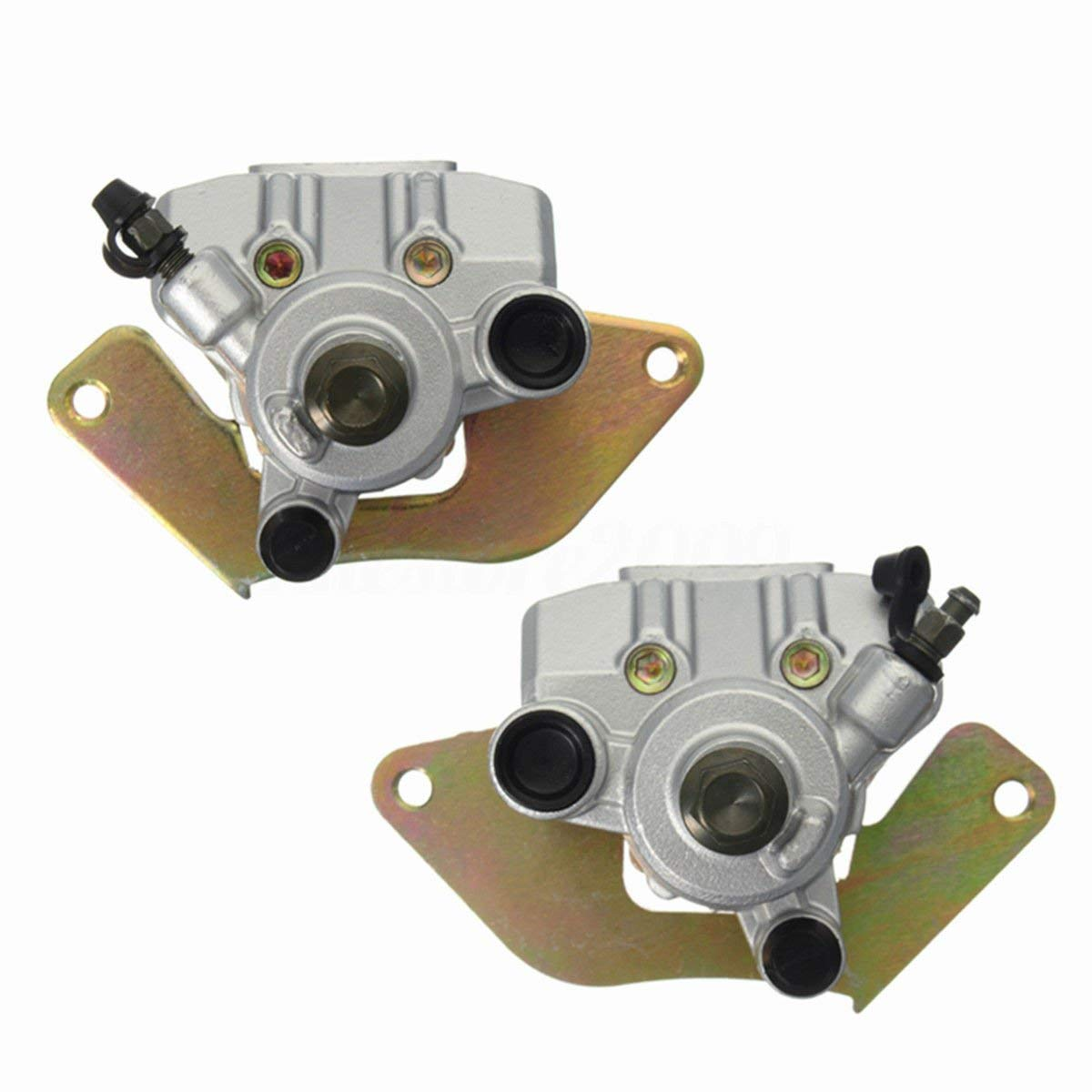 Front Brake Caliper Set (Left + Right) Fits Honda Rancher 420 TRX420 2007-2015 Foreman 500 TRX500 2012 2013 2014 2015 by Amhousejoy RUIAN HAOCHENG VEHICLE PARTS