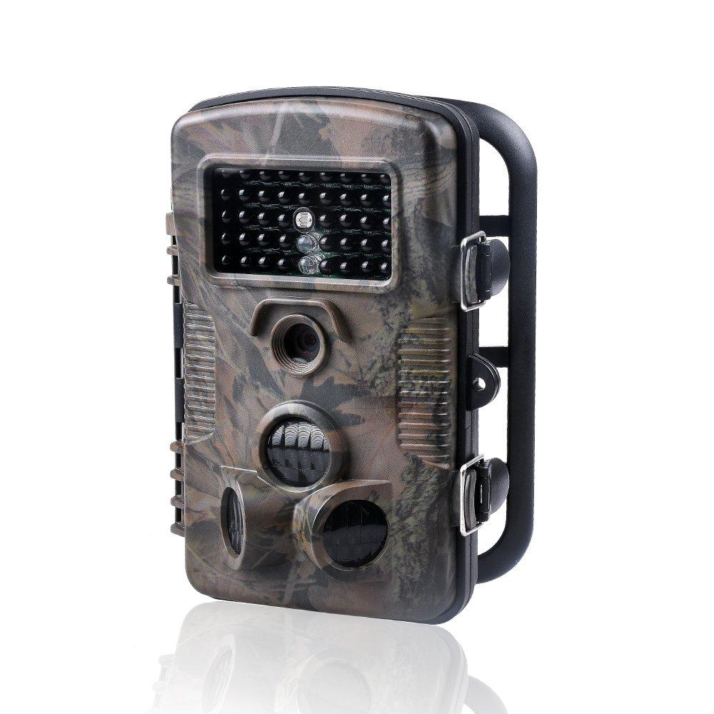 Caméras de chasse WoSports 12MP 1080P FHD 2.4 Affichage LCD, 42 pcs LED IR 940nm vision nocturne infrarouge, IP54 étanche