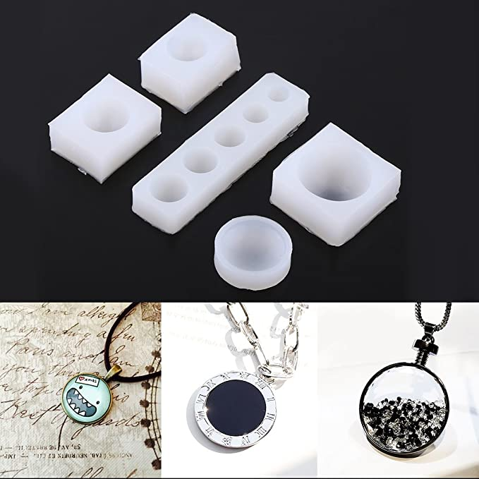Amazon.com: 5Pcs Half Round Cabochon Silicone Mold,1cm - 3cm 8 Size Half Mold for DIY Fondant Cakes Mold,DIY Necklace Bracelet Resin Pendants Making: Arts, ...