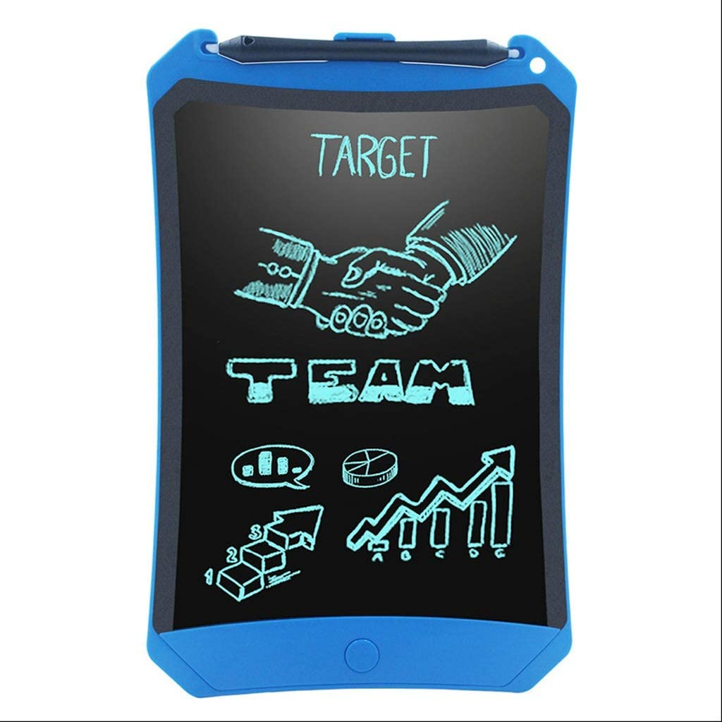 Board LCD Writing Tablet for Kids Learning Writing LCD Writing Pad Smart Doodle Drawing Portable Color : Blue