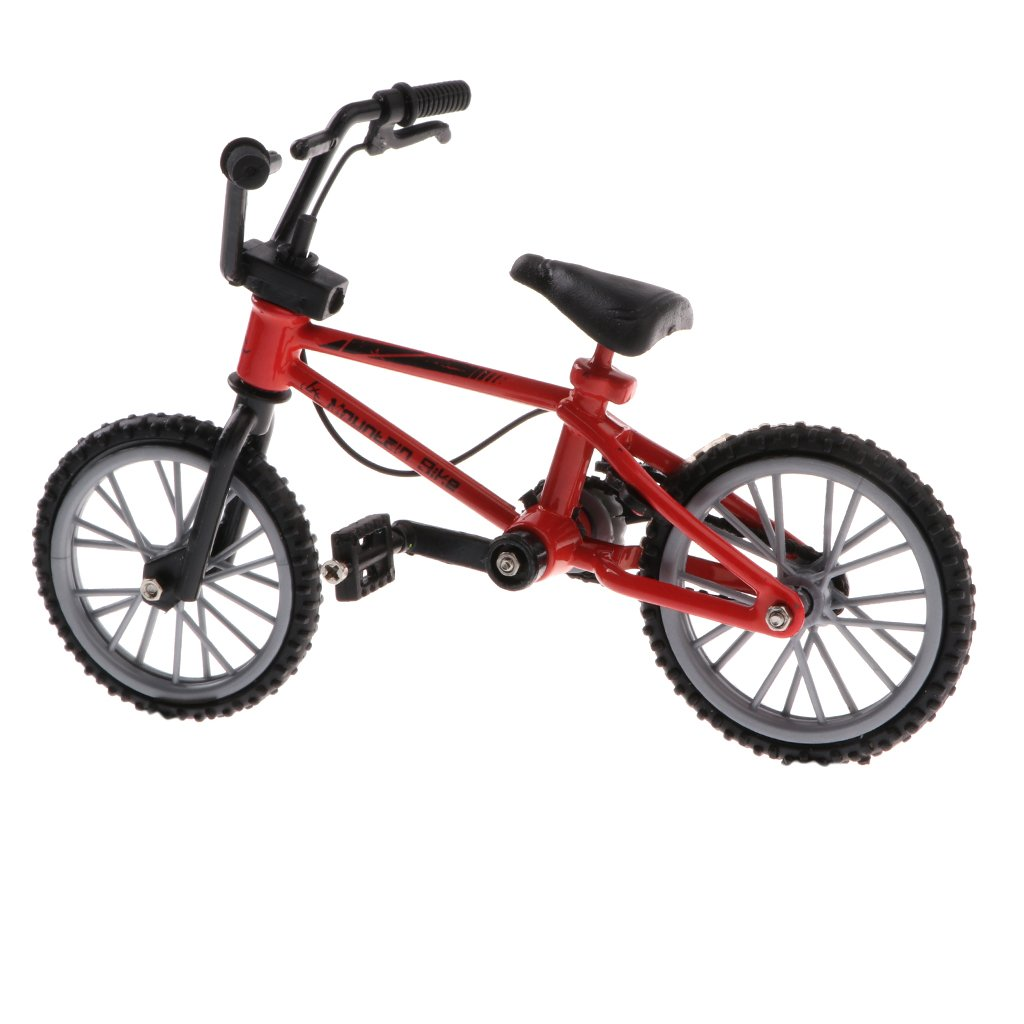 Homyl 1:24 Mountain Finger Bicycle Toy Mini Alloy Road Bike Kids Toy Birthday Gift Red Color
