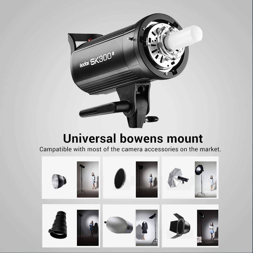 Godox SK300II Studio Strobe 300Ws GN65 5600K Bowens Mount Monolight, Built-in Godox 2.4G Wireless System, 150W Modeling Lamp, Outstanding Output Stability, Anti-Preflash, 1/16-1/1 40 Steps Output by Godox (Image #7)