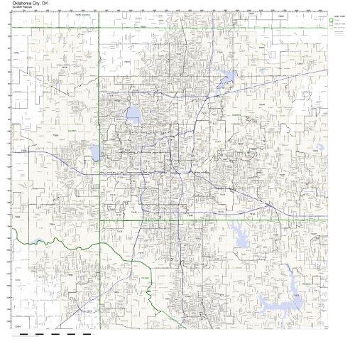 Oklahoma City, OK ZIP Code Map Laminated ()