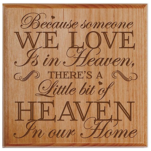 - Cremation Urn - SMALL Funeral sharing Urn Keepsake box for human - Memorial Gift for home or Columbarium Niche Because someone we love is in Heaven- Holds SMALL portion of ashes (Alder)