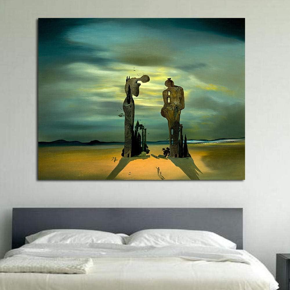 50x70cm sans Cadre wmyzfs Le r/êve am/éricain de by Salvador Dali Art Mural peintures murales pour Le Salon peintures sur Toile reproductions de Tableaux c/él/èbres