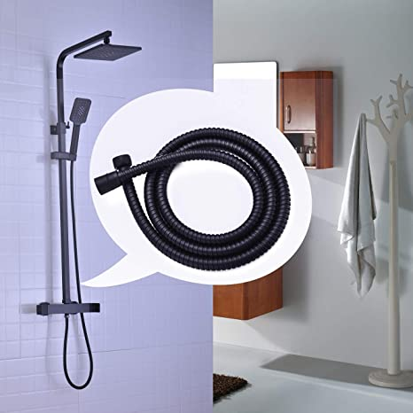 Polished Chrome Silver General US Standard G1//2 Universal Brass Connector GORDEE Bathroom Shower Hose 71 inches SUS304 Stainless Steel Handheld Showerhead Hoses Extension