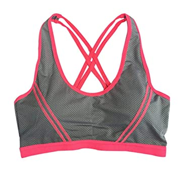 LSYYQX Sujetador Deportivo Top Athletic Gym Fitness Estiramiento ...