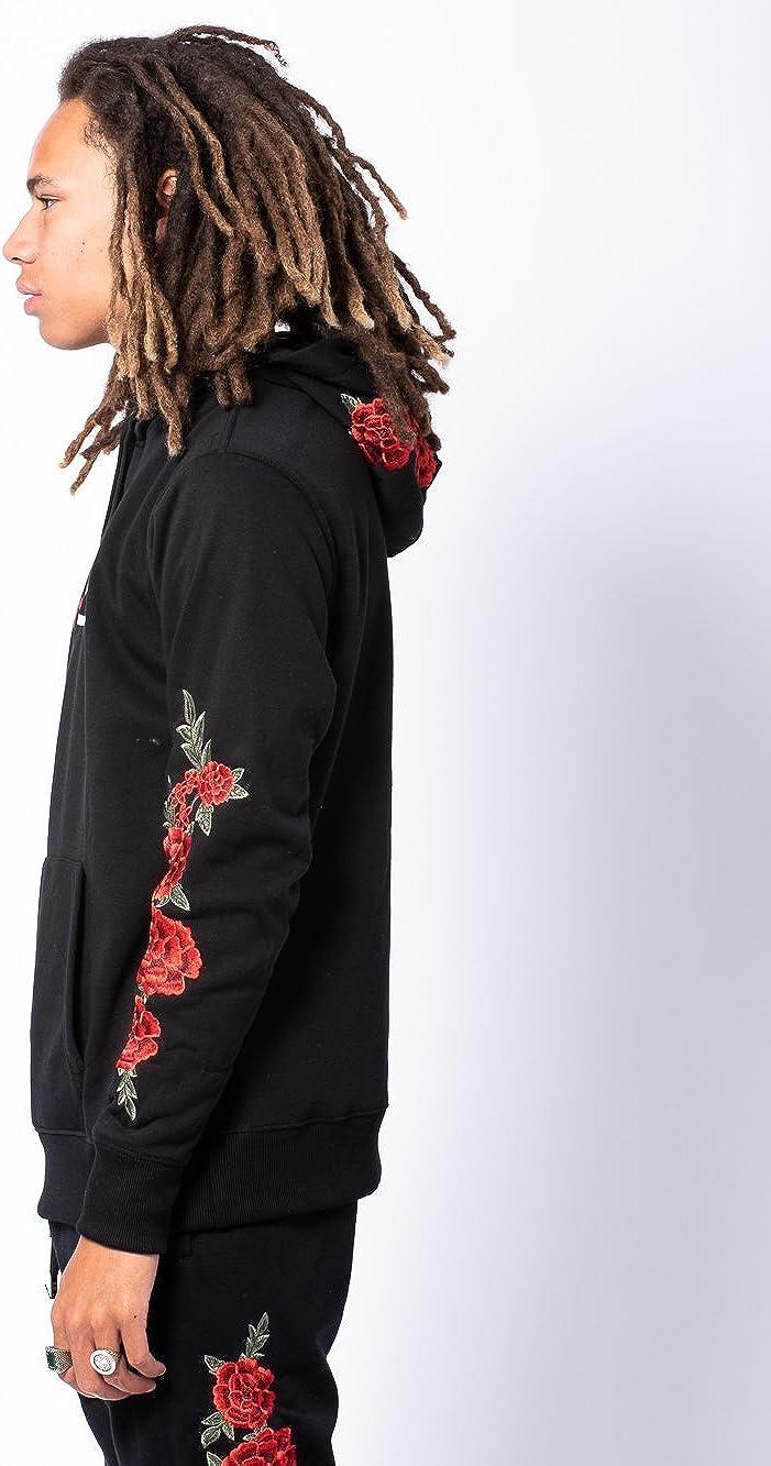 Fleece - Mens Halve Vista Hoodie Black//Red Hoodies Young and Reckless
