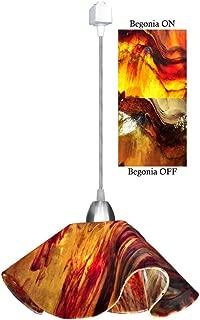 product image for Jezebel Signature Lily Track Lighting Pendant Large. Hardware: Nickel. Glass: Begonia