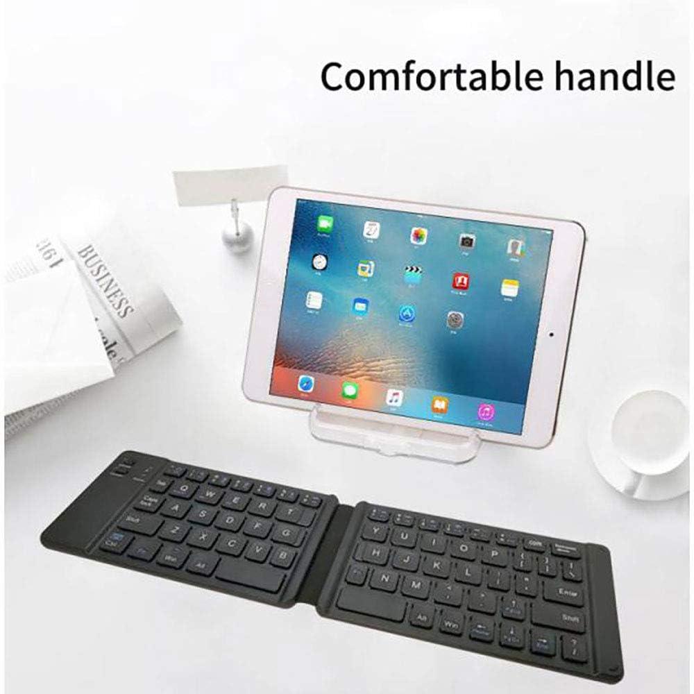 SCKL Portable Foldable Bluetooth Keyboard Light and Handy Bluetooth Folding Keyboard for Phone Laptop Gaming Keyboard