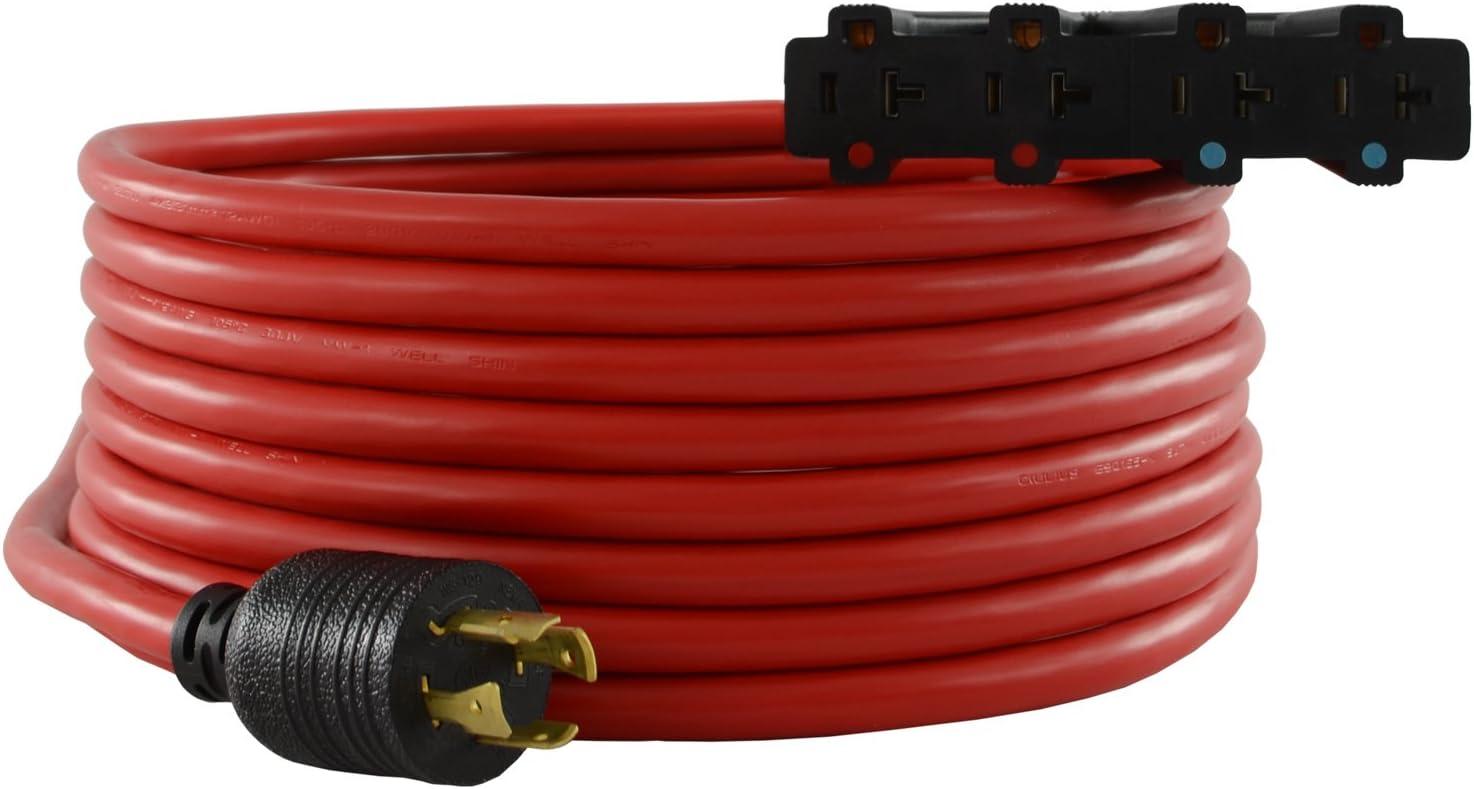 Conntek 20601-0 30-Amp 25ft Generator Power Cord for sale online