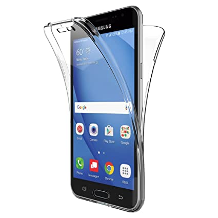 AICEK Funda Samsung Galaxy J3 2016, Transparente Silicona 360°Full ...