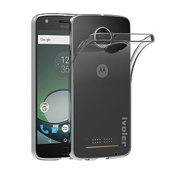 ivoler Funda Carcasa Gel Transparente para Motorola Moto Z Play, Ultra Fina 0,33mm, Silicona TPU de Alta Resistencia y Flexibilidad