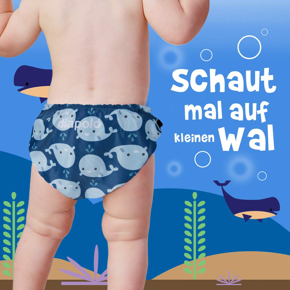 1 Diapolo Wal Cute Baby Schwimmwindel