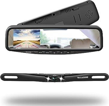 "4.3/"" LCD Monitor Car Wireless Back Up Camera Kit Rear View Mirror Night Vision D"
