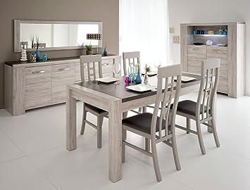 Esszimmer Marten 1 Grau Steinoptik Tisch 4x Stuhl Sideboard