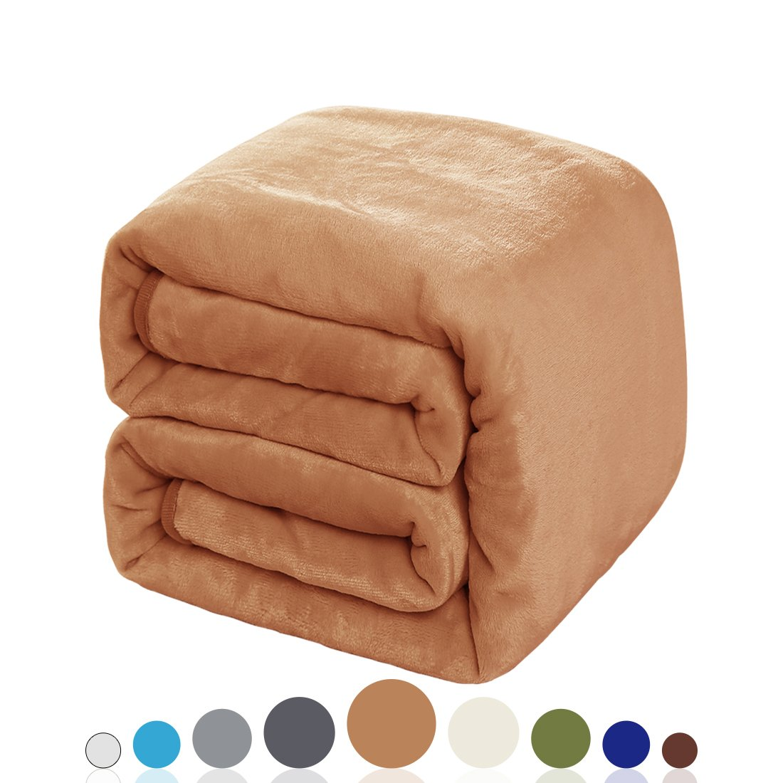 Balichun Luxury 330 GSM Fleece Blanket Super Soft Warm Fuzzy Lightweight Bed or Couch Blanket