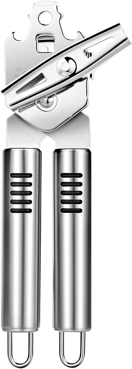 Kebley Stainless Steel Can Opener Manual Food-safe Good Gripswith Built-in Bottle Opener putty