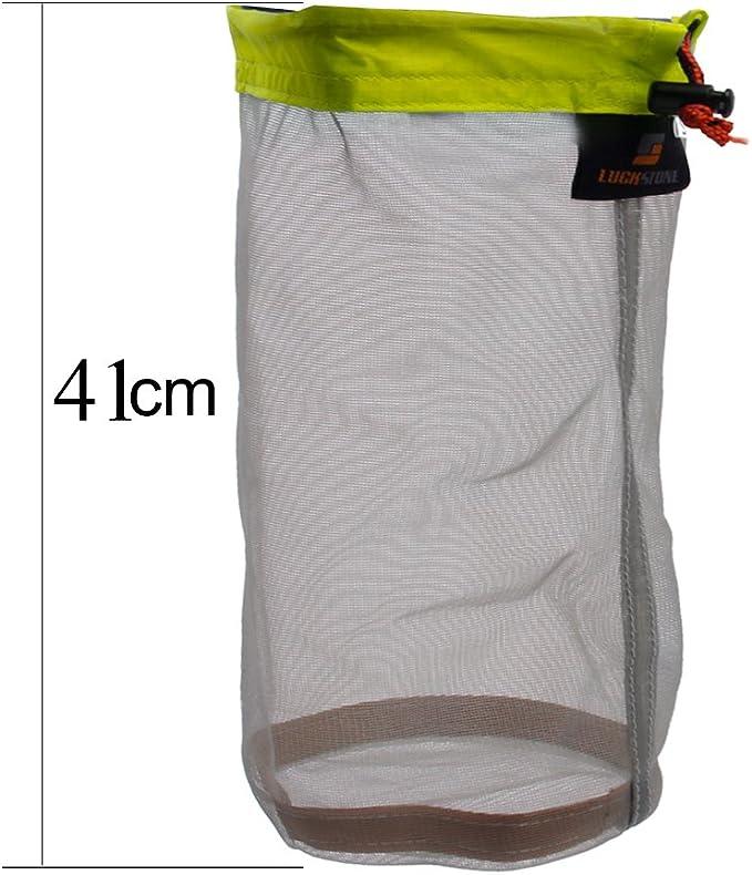 2pcs Mesh Sac de Rangement Ultra Léger pour Voyage Camping