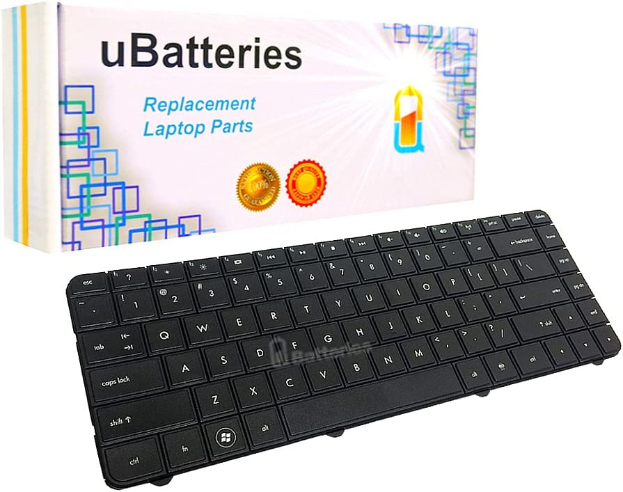 UBatteries Compatible Laptop Keyboard Replacement for HP Compaq CQ45 CQ45-100 CQ45-200 CQ45-300 Keyboard 486904-001 PK1303V0500