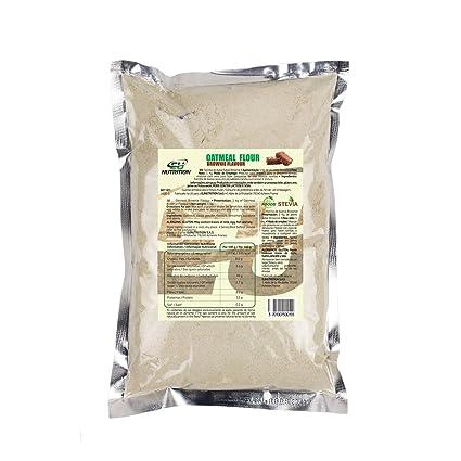 EU Nutrition Oatmeal Flour Brownie - 5 Paquetes x 1000 gr - Total: 5000 gr