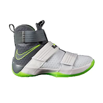 f61876f4da7 Nike Lebron Soldier 10 SFG - 844378103 - Color Grey-White-Green - Size   13.5  Amazon.co.uk  Shoes   Bags
