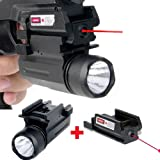 Laser Sight wiith Tactical Flashlight Picatinny Mount Combo